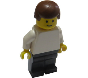 LEGO Male with White Shirt and Black Pants Minifigure