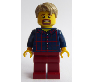 LEGO Man in Plaid Shirt Minifigure