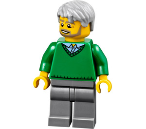 LEGO Man with Green Sweater Minifigure