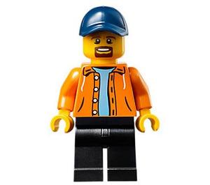 LEGO Man with Orange Jacket Minifigure