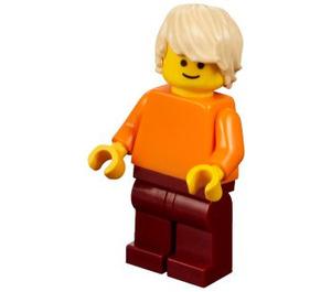 LEGO Man with Orange Shirt Minifigure