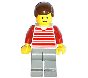 LEGO Man with Red Horizontal Lines Minifigure
