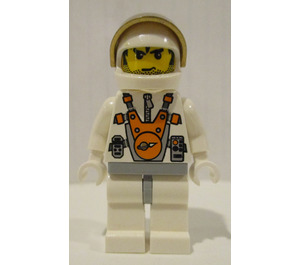 LEGO Mars Miner Unshaven and Messy Hair Minifigure