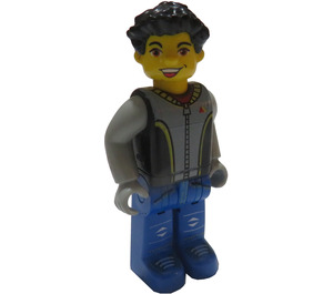 LEGO Max with Black Torso and Blue Legs Minifigure