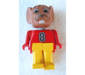 LEGO Maximillian Mouse with 8 on Top Fabuland Figure