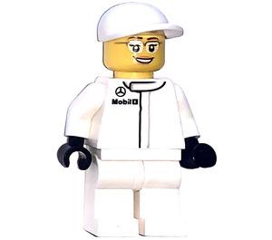 LEGO Mclaren Mercedes Female Pit Crew Member Minifigure