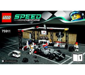 LEGO McLaren Mercedes Pit Stop Set 75911 Instructions