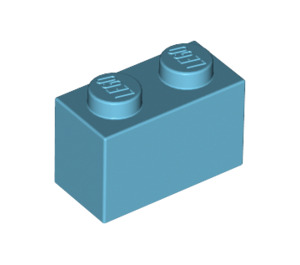 LEGO Medium Azure Brick 1 x 2 (3004)