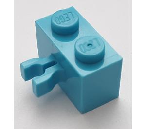 LEGO Medium Azure Brick 1 x 2 with Vertical Clip (Gap in Clip)