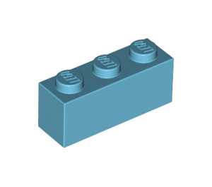 LEGO Medium Azure Brick 1 x 3 (3622)
