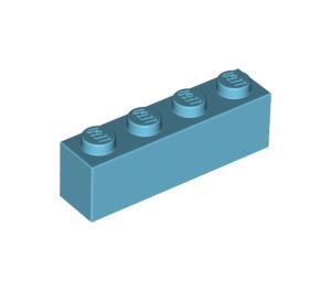 LEGO Medium Azure Brick 1 x 4 (3010)