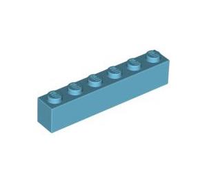 LEGO Medium Azure Brick 1 x 6 (3009)