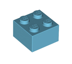 LEGO Medium Azure Brick 2 x 2 (3003)