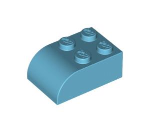LEGO Medium Azure Brick 2 x 3 with Curved Top (6215)