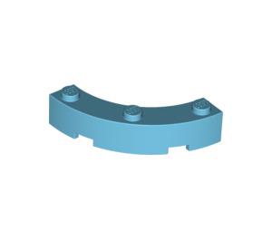 LEGO Medium Azure Brick Corner 4 x 4 (Wide with 3 Studs) (48092)
