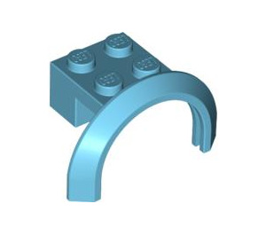 LEGO Medium Azure Mudguard with Round Arch 4 x 2 1/2 x 2 (50745)