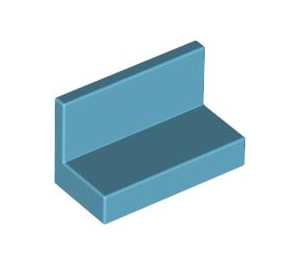 LEGO Medium Azure Panel 1 x 2 x 1 without Rounded Corners (4865)