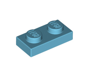 LEGO Medium Azure Plate 1 x 2 (3023)