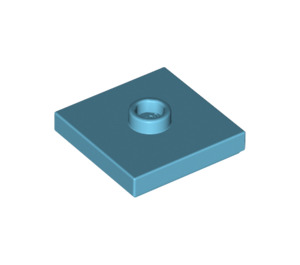 LEGO Medium Azure Plate 2 x 2 with Groove and 1 Center Stud (23893 / 87580)