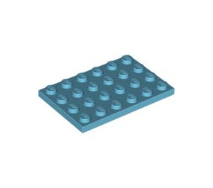 LEGO Medium Azure Plate 4 x 6 (3032)
