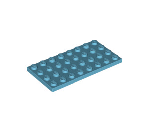 LEGO Medium Azure Plate 4 x 8 (3035)