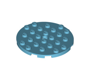 LEGO Plate 6 x 6 Round with Pin Hole (11213)