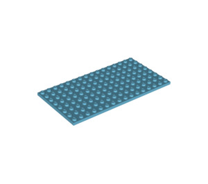 LEGO Medium Azure Plate 8 x 16 (92438)