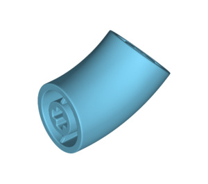 LEGO Medium Azure Round Brick with 45 Degree Elbow (65473)