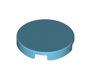 LEGO Medium Azure Round Tile 2 x 2 with Bottom Stud Holder (14769)
