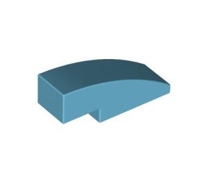 LEGO Medium Azure Slope 1 x 3 Curved (50950)