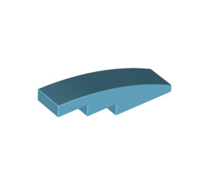 LEGO Medium Azure Slope 1 x 4 Curved (11153)