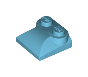 LEGO Medium Azure Slope Curved 2 x 2 with Curved End (47457)