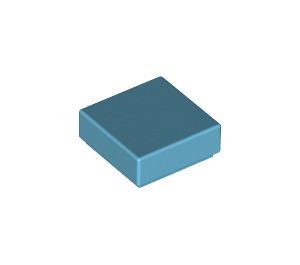 LEGO Medium Azure Tile 1 x 1 with Groove (3070)