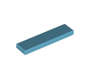 LEGO Medium Azure Tile 1 x 4 (2431)
