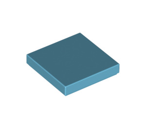 LEGO Medium Azure Tile 2 x 2 with Groove (3068)