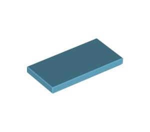 LEGO Medium Azure Tile 2 x 4 (87079)