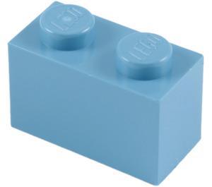 LEGO Medium Blue Brick 1 x 2 (3004 / 93792)