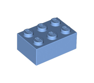 LEGO Medium Blue Brick 2 x 3 (3002)
