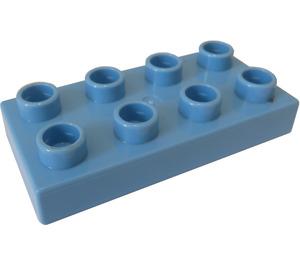 LEGO Medium Blue Duplo Plate 2 x 4 (40666)