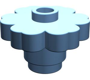 LEGO Medium Blue Flower 2 x 2 with Open Stud (4728)