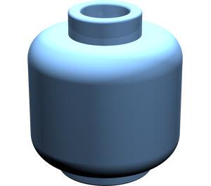 LEGO Medium Blue Plain Head (Safety Stud) (88475)