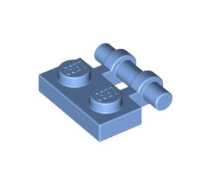 LEGO Medium Blue Plate 1 x 2 with Handle (Open Ends) (2540)