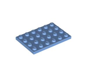 LEGO Medium Blue Plate 4 x 6 (3032)