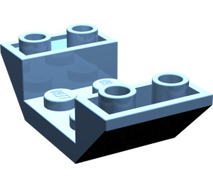 LEGO Medium Blue Slope 45° 4 x 2 Double Inverted with Open Center
