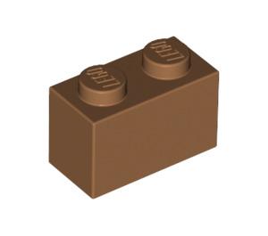 LEGO Medium Dark Flesh Brick 1 x 2 (3004)