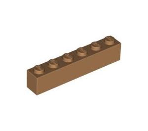 LEGO Medium Dark Flesh Brick 1 x 6 (3009)