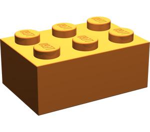 LEGO Medium Dark Flesh Brick 2 x 3 (3002)