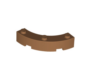LEGO Medium Dark Flesh Brick Corner 4 x 4 (Wide with 3 Studs) (48092)