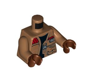 LEGO Medium Dark Flesh Finn Minifig Torso with Medium Dark Flesh Arms and Reddish Brown Hands (76382)