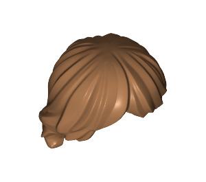 LEGO Medium Dark Flesh Minifigure Hair Tousled and Layered (92746)